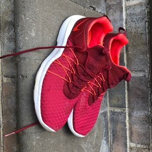 A pair of Nike running shoes